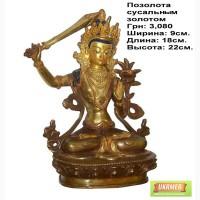 Купить статуэтку Тара, купить дорогую статуэтку Тара из бронзы, фигура Тара с позолотой в Киеве, Укр