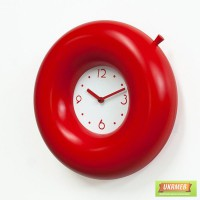 ���� ��������� Progetti Salvatempo 1 Wall Clock, Red