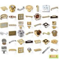Мебельные ручки с кристаллами сваровски, эксклюзивные ручки для мебели