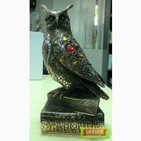 Продажа Статуэтка Сова на книге со стразами 26см помедненная — символ мудрости