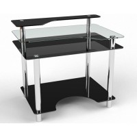 Стеклянный компьютерный стол Денвер
