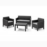 Orlando Set With Large Table мебель из искусственного ротанга