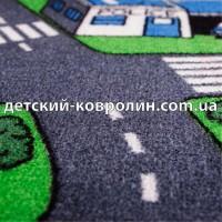 Детский коврик с дорогами City Life. Детский ковер на пол