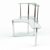 Стеклянный компьютерный стол Диона