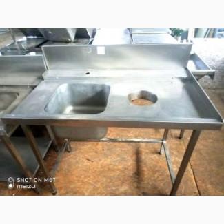 Продается стол XXL с мойкой и отверстием для отходов ( для ПММ) б/у из нержавеющей стали