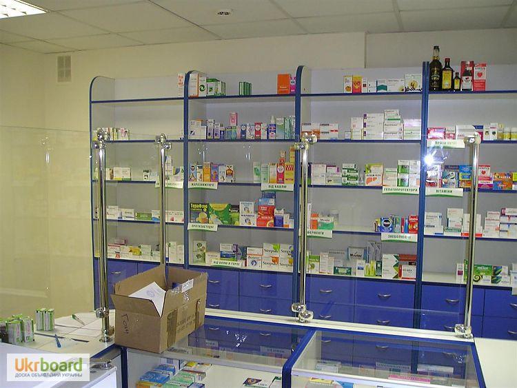 Фото 2. Оборудование для аптек, прилавки, шкафы, кассовые места, отделы под ключ