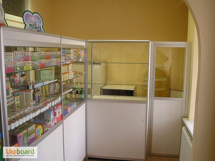 Фото 3. Оборудование для аптек, прилавки, шкафы, кассовые места, отделы под ключ