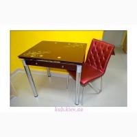Стеклянный стол Рубин раскладной