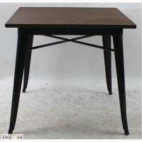 Металлический стол Толикс Вуд Квадратный, 80x80см (Tolix Wood Square, 80x80cm.)