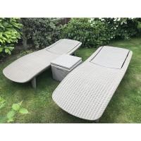 Шезлонг Keter Pacific Set (2 шезлонга + столик)