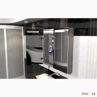 Навесной алюминиевый шкаф в ванную комнату на заказ в Киеве