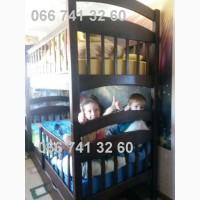 Детская кровать из дерева двухъярусная трансформер Карина люкс Усиленная