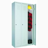Шкаф для одежды металлический на три отделения