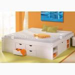 Двуспальная кровать Лето из дерева