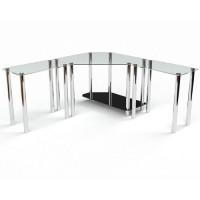 Стеклянный компьютерный стол Кредо