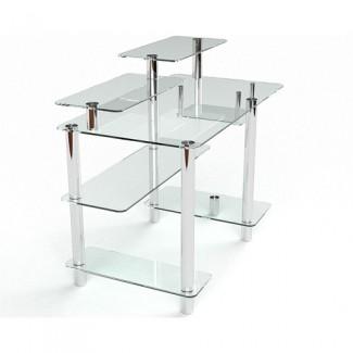 Стеклянный компьютерный стол Лео