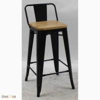 Металлический полубарный стул Толикс Низкий Вуд, H-66см (Tolix Low Wood, H-66cm) купить