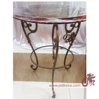 Кованый стол со стеклянной столешницей в наличии
