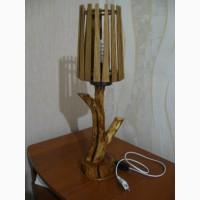 Самодельный сувенирный светильник из дерева