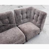 Диван угловой бу, серые велюровые диваны, мягкая модульная мебель б/у для бара ресторана