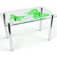 Стеклянный обеденный стол Фоли S-5 91×61 / 61х31