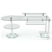 Стеклянный компьютерный стол Марион
