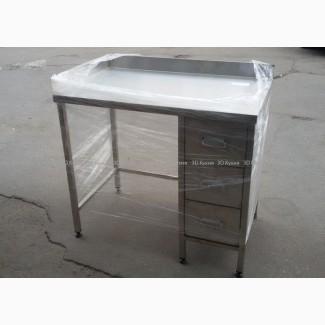Производственный стол с шухлядами – выдвижными ящиками нержавеющей стали (нержавейки)