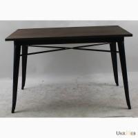 Металлический стол Толикс Вуд Прямоугольный, 120x80см (Tolix Wood Rectangular, 120x80cm.)
