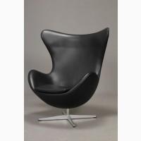 М#039;яке крісло ЭГГ (EGG), шкірозамінник чорний