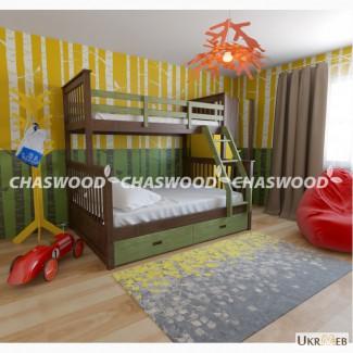 Двухъярусная кровать Олигарх + из натурального дерева