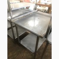 Новый производственный стол с полкой и бортом