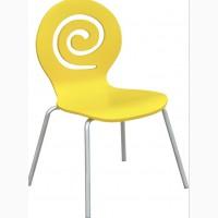 Деревянный стул Лев, штабелируемый, белый, голубой, желтый, оранжевый