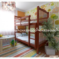 Двухъярусная кровать Том из натурального дерева