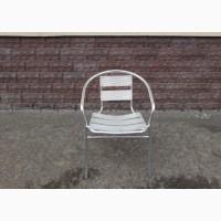 Б.у стулья для летней площадки алюминиевые с подлокотником, мебель бу