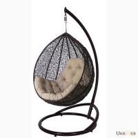 Подвесное кресло кокон из ротанга Gardi.Садовые качели