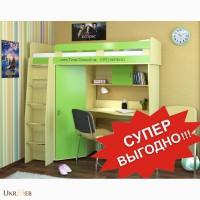 Кровать двухъярусная + Стол письменный