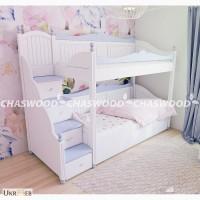 Двухъярусная кровать Алиса из натурального дерева