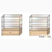 Прилавок стеклянный с выдвижным ящиком, изготовление на заказ, быстро, качественно