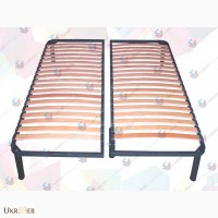 Разборной двуспальный каркас кровати на ножках