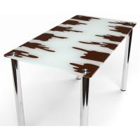 Стеклянный обеденный стол Шоколадный