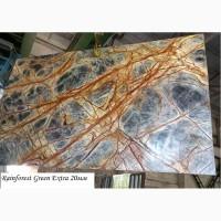 Столешницы из Мрамора Рейнфорест Грин Екстра/Rainforest Green Extra толщина 20мм