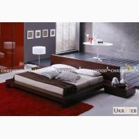 Двухспальная кровать Тишина из натурального дерева
