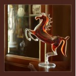 Vip подарок- Лошадь( ручная работа из стекла)