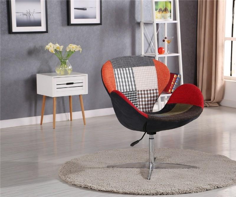 Фото 3. Мягкое кресло Сван, ткань, цвет зеленый, коричневый, серый