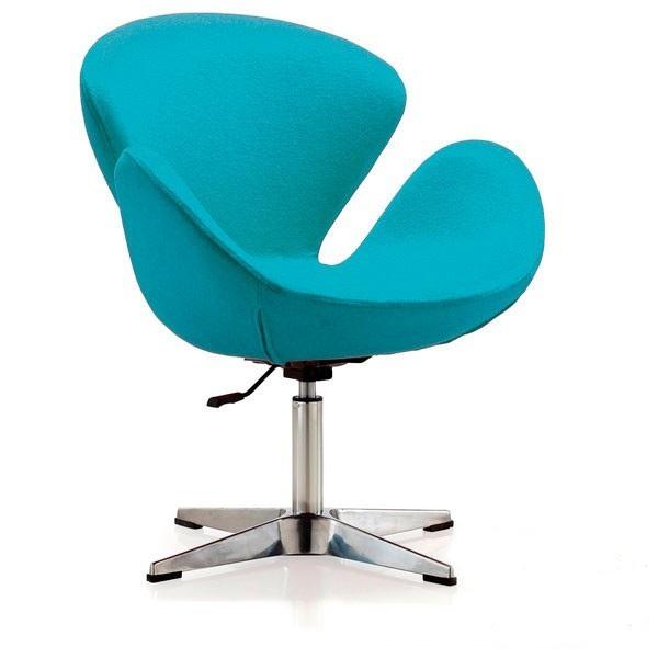 Фото 4. Мягкое кресло Сван, ткань, цвет зеленый, коричневый, серый