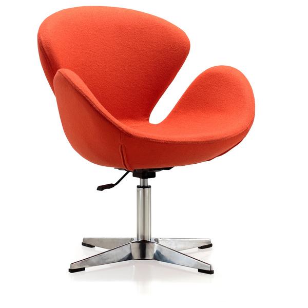 Фото 5. Мягкое кресло Сван, ткань, цвет зеленый, коричневый, серый
