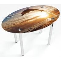 Стеклянный обеденный стол Овальный