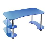 Стеклянный компьютерный стол С3
