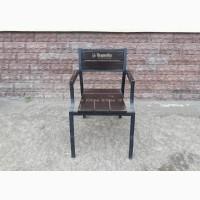 Б.у стулья для летней площадки деревянные с подлокотником, мебель бу