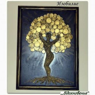 Денежное дерево панно